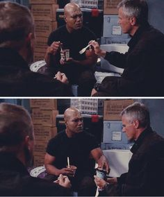 With that look on Teal'c's face, you are extremely lucky his staff weapon wasn't within reach, Jack!