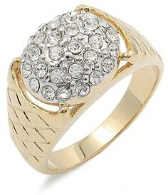 CZ RING FOR MEN - 14K Gold Plated Mens Pave CZ Ring CostumeFashionJewelry. $19.50