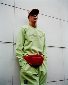 Supreme x Lacoste Spring 2018 Collection Shirts Polos René Lacoste French Paris Tennis Supreme New York Fashion Streetwear Bucket hats Bum Bags Valour Track Pants Track suit 3m reflective varsity jacket