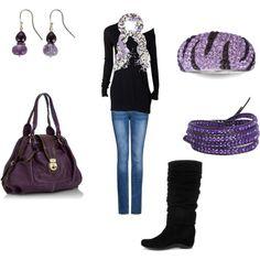 Casual Purple, set put together by me. I <3 polyvore.com
