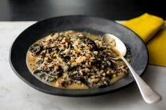 Mixed Grains Risotto With Kale, Walnuts and Black Quinoa Recipe - NYT Cooking
