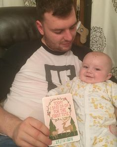 SAYING DADA FOR THE FIRST TIME MILESTONE CARDS