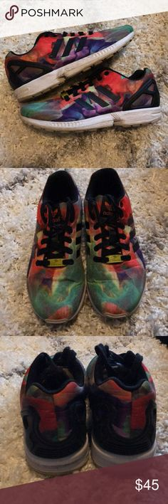 Adidas ZX Flux Worn and in great condition. Adidas ZX Flux. Multi colored. Great for athleisure. Women's size 8.5. adidas Shoes Sneakers