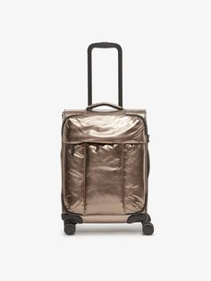 CALPAK Luka Carry-On Luggage Softside Spinner Suitcase - this is a beauty with the metallic fabric! Calpak Luggage, Travel Luggage, Travel Bags, Carry On Suitcase, Carry On Luggage, Spinner Suitcase, Must Have Items, Practical Gifts, Travel Gifts