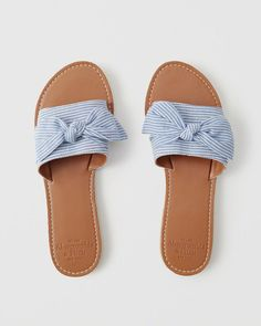 d275e6475b Slide sandals with a bow detail and a comfortable fit. Imported. Bow Slides