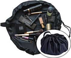 ModFamily Toiletry and Cosmetic Cinch Bag, opens flat so you can find it all - Brought to you by Avarsha.com