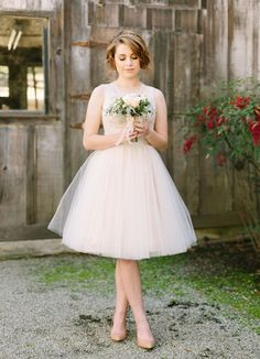 25 Super Chic Short Wedding Dresses   SouthBound Bride   http://www.southboundbride.com/short-wedding-dresses   Credit: U Me Us Studios/JuLee Collection via Style Me Pretty