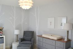 lovely grey nursery from Apartment Therapy - so soothing. And the family is in Chapel Hill, which makes it all the more awesome - tiny Tarheel's  got a lovely room!