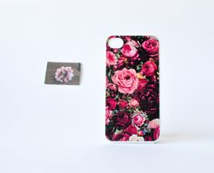iPhone 4 Case - Floral iPhone 4 Case - Rose Print iPhone Case - Floral iPhone Case - Accessories for iPhone. $17.99, via Etsy.