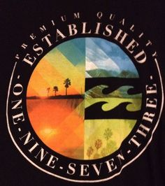 Billabong Shirt Large Mens Black 1973 Beach Surf Waves Palm Trees #Billabong #GraphicTee