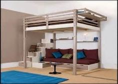 Queen Size Loft Bed With Desk Plans The Best Image Search