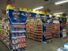 Nestle Nescafe & Nestle in-store display.