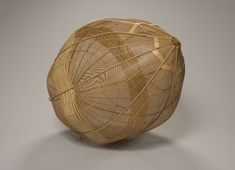Yako Hodo Uplifting, 1990, madake and rattan {h. 31 1/2 in, w. 23 1/2 in, d. 23 1/2 in}. The Buchbinder Family Collection.