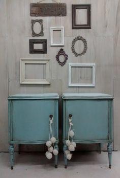 Cómoda Luis XV   Con Secreter              Vajillero / mueble TV Luis XV                 _______________________________________    M... Salvaged Furniture, Cool Furniture, Painted Furniture, Interior Design Living Room, Interior Decorating, Painted Night Stands, Tiny House Living, Furniture Makeover, Vintage Decor