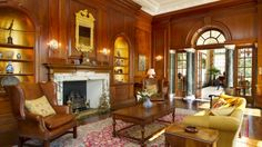 The lounge of Saint Hill Major in Sussex which as used for receiving guests and for family gatherings // Home of Scientology founder L. Ron Hubbard