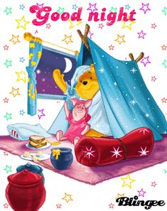 pooh and piglet bedtime Cute Good Night, Good Night Gif, Good Night Sweet Dreams, Good Night Image, Winnie The Pooh Pictures, Cute Winnie The Pooh, Winnie The Pooh Quotes, Good Night Greetings, Good Night Wishes