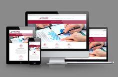 """FINAPEC on Behance - Création du site web français/anglais """"responsive""""."""