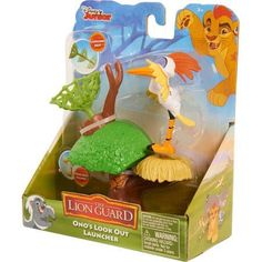 Lion Guard Figure N Accessories Ono with TreeTop Net Launcher, Multicolor