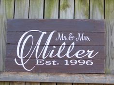 Personalized Wedding Gifts, Last Name Sign, Established Date Sign, Rustic Wedding Gifts