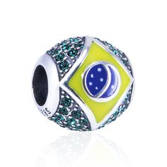 Featuring the Brazilian flag and embellished with a pave of sparkling rhinestone accents, this sterling silver charm bead is ideal for commemorating the 2016 Rio Olympics, remembering a special trip or showing pride in your heritage. Buy your Rio 2016 Olympic memorabilia and be part of the games.    Buy any 2 charm and use code TWOITEMS at checkout to receive 10% discount on your order.    Buy any 3 charm and use code THREEITEMS at checkout to receive 12% discount on your order.  Buy any 4…