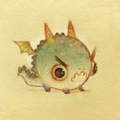 tiny dragon - so cute! Tiny Dragon, Little Dragon, Dragon Art, Cute Creatures, Fantasy Creatures, Mythical Creatures, Cute Dragon Drawing, Dragon Drawings, Animal Drawings
