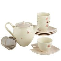 The darling porcelain Sakura Tea Set is reminiscent of spring and adds color to any table.
