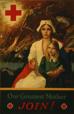 Vintage Red Cross Posters from WWI Cornelius Hicks, 1917