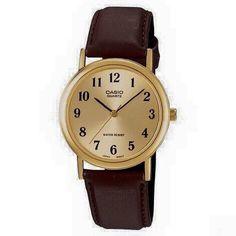 Casio Vintage piel MTP1095Q9BD  $500 · HORA REGULAR · Analógico: Tres manillas (Horas, minutos, segundos)  · PRECISION  · +/- 20 Seg.. por mes · DURACIÓN DE LA PILA · Aprox. 3 años · TAMAÑO DE LA CAJA / PESO · 38mm x 33 mm x 8 mm 32 grs. Casio Vintage, Casio Classic, Watches For Men, Ebay, Fashion, Clock, Fur, Accessories, Hardware Pulls
