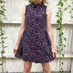 How cute is this Grainline Alder Dress by Hannah from the Brisbane Store?! Hannah used Liberty Corduroy in Manuela #thefabricstore #grainlinealder #libertyfabriclibertyfabric,grainlinealder,thefabricstorewearethefabricstore