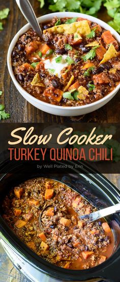 Slow Cooker Turkey Quinoa Chili | 7 Awesome Ideas For Easy Weeknight Dinners