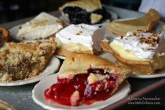 A plethora of Amish pies!