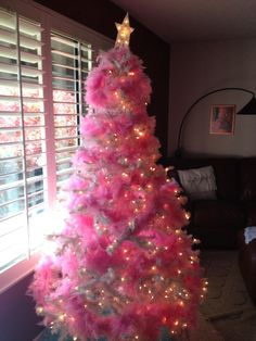 Fabulous Feather Tree I IVillage Ca Home For The Holidays  - Pink Feather Christmas Tree