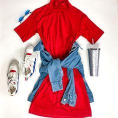 Red And Blue, Fashion, Dress, Moda, Fashion Styles, Fashion Illustrations
