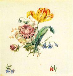 Kersting - Blumenbukett mit Tulpe und Streublumen - Georg Friedrich Kersting – Wikipedia