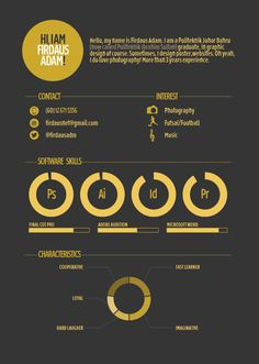 My Resume by Firdaus Adam, via Behance