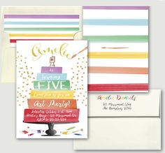 Art Party Birthday Invitation // Art Party Invite // Craft Party // Rainbow // Ranbows Invitation Watercolor // HAMPTONS COLLECTION