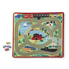 Features:  Rug Shape: -Square.  Product Type: -Kids Rug.  Primary Color: -Multi-colored.  Theme: -Towns & Roads.  Border: -Yes.  Border Color: -Green. Dimensions:  Overall Product Weight: -3.5 lbs.  -
