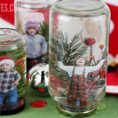homemade snow globes - special gift from Santa for the boys