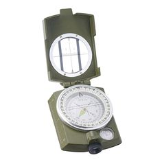 Pinty Professional Metal Military Waterproof High Accuracy Noctilucent Fluorescent Foldable Pocket Compass Hiking Camping Biking * Learn more by visiting the image link.