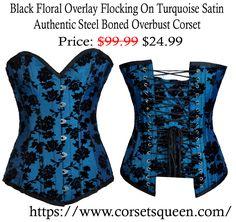 Black Floral Corset, Printed corset, flower corset Corset Shop, Overbust Corset, Lingerie, Turquoise, Flower, Printed, Collection, Shopping, Black