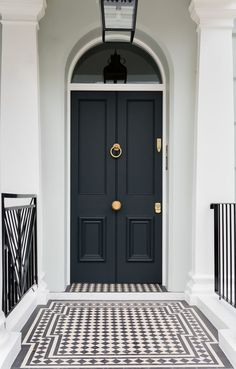 We will be looking into exterior door design ideas, after all, they're the welcoming point to your home. Get going and check the exterior door design that. Victorian Front Doors, Victorian Homes, Victorian Front Garden, Victorian Terrace House, House Front Door, House Entrance, House Doors, Entrance Doors, Exterior Design