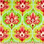 Looking for a fun, graphic print that combines burgundy and light green for kitchen curtains.  $14.98/yard