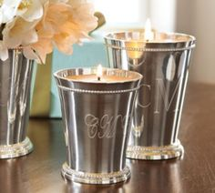 pretty julep cup candles