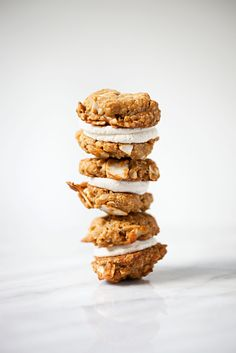 vanilla coconut oatmeal cookie sandwiches