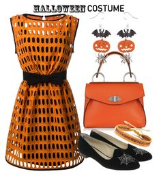 """Halloween From Head to Toe"" by anifitria-af on Polyvore featuring Moschino, Charlotte Olympia, Proenza Schouler, Accessorize, Mishky and halloweencostume"