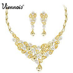 Gold & Silver Jewelry Party Set     Tag a friend who would love this!     FREE Shipping Worldwide     Buy one here---> https://megatradingshop.com/gold-silver-jewelry-party-set/ #viennoisjewelry