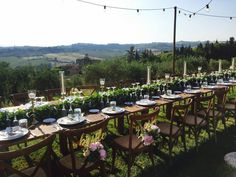 #Hochzeit in der #Toskana, Vanessa&Stephan #Zuerich 03.06.2017 Country Chic, Table Settings, Wedding, Tuscany, Valentines Day Weddings, Place Settings, Weddings, Marriage, Tablescapes