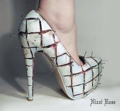 bb734ec194e471 Hellraiser High Heels Made With Little Plastic Cocktail Swords