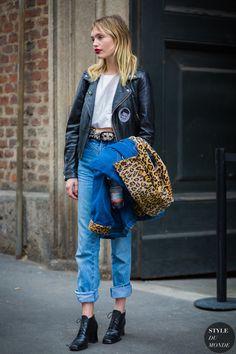 Staz Lindes Street Style Street Fashion Streetsnaps by STYLEDUMONDE Street Style Fashion Photography