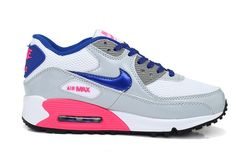 Nike Sports Shoes Air Max 90 Womens Grey/White/Blue/Pink UK